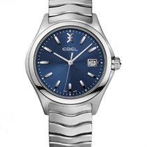 Ebel Wave Gent Steel Bracelet, Blue Dial, Date