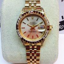 Rolex date just oro brillantes y zafiros