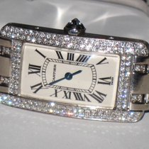 Cartier Tank Americaine American 18K Solid White Gold Diamonds