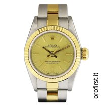 Rolex oyster perpetual lady acciaio e oro ref 67193