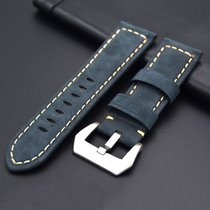strap Leather strap in 24mm - Blue in 24/22mm fit Panerai...
