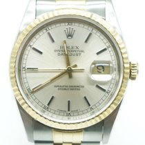 Rolex Datejust 36 Two Tone Silver Stick Dial