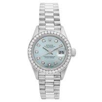 Rolex Ladies Platinum President Watch 79166