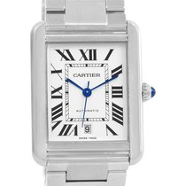 Cartier Tank Solo Xl Automatic Silver Dial Mens Watch W5200028