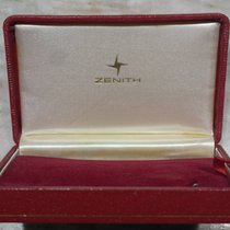 Zenith vintage watch box red leather diver watch logo  nice...