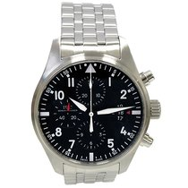 IWC 43mm Schaffhausen Stainless Steel Pilot Chronograph