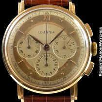 Lemania 18k Rose Gold Vintage Chronograph