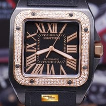 Cartier Santos 100 Xl Adlc Custom Diamonds Automatic (near Mint)
