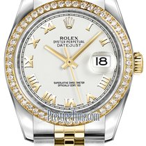 Rolex Datejust 36mm Stainless Steel and Yellow Gold 116243...