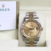 Rolex New Datejust 18K YG SS Box & Papers Open Card