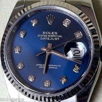 Rolex Datejust Steel Model 116234 Factory Blue Diamond Dial...