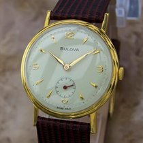 Bulova Swiss Made Vintage 1960s Mens 34mm Gold Plated Manual...