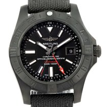 Breitling Aeromarine Avenger Ii Gmt Canvas Strap Watch M32390...