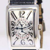 Franck Muller Long Island 18k White Gold Automatic Mens Watch...