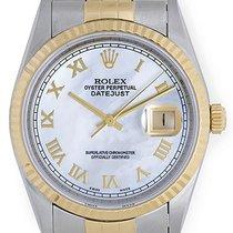Rolex Datejust Men's 2-Tone Steel & Gold Watch MOP...