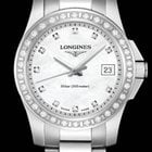 Longines Conquest Quartz Ladies Diamonds Mother of Pearl Dial...