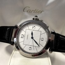 Cartier Pasha XL White Gold Guilloche Dial 18 krt / 42 mm...