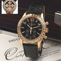 Patek Philippe Complications Rose Gold Baguette Diamond Bezel