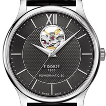 天梭 (Tissot) T-Classic Tradition Powermatic 80 Open Heart...