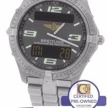 Breitling Aerospace Titanium E75362 Digital Grey 40mm Arabic...