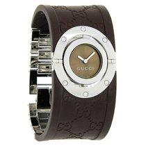 Gucci Twirl 112 Series Ladies Gg Monogram Rubber Strap Watch...