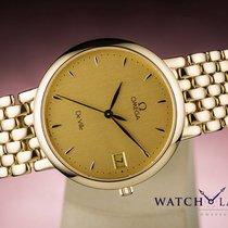 Omega DE VILLE DATE YELLOW GOLD CLASSIC CLASSIQUE - BOX &...
