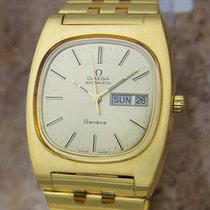 Omega Geneve Automatic Mens 36mm Gold Plated 1970s Rare...
