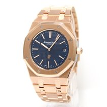 오드마피게 (Audemars Piguet) Royal Oak Extra Thin  PG, blue dial