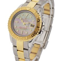Rolex Used 169623_used_blk_mop Yacht-Master 2-Tone 169623 -...