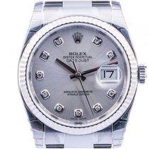 Rolex Datejust Stahl Weißgold Diamond Automatik Armband Oyster...
