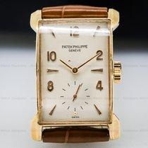 Patek Philippe 2403 Vintage Rectangle Bunny Lugs 18K Rose Gold...