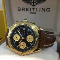 Breitling Chronomat Yellow Gold Black Dial 40 mm (Full Set)
