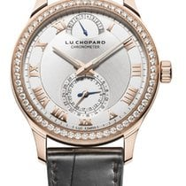 Chopard L.U.C Quattro 18K Rose Gold & Diamonds Unisex Watch