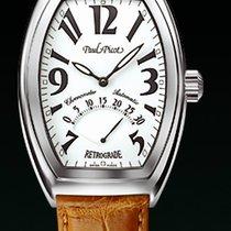 Paul Picot FIRSHIRE règulateur dial white strap skin orange ...
