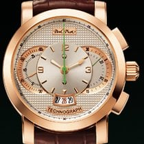 Paul Picot TECHNOGRAPH GOLD 44 MM Chrono Rose Gold-White Dial