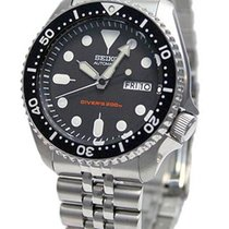 Seiko Marine Sport Steel Case Black Dial Data SKX0/07K2