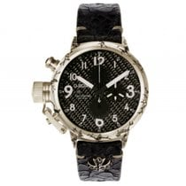 U-Boat Italo Fontana Flightdeck 925 Silber Black Diamonds...