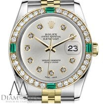 Rolex Ladies Rolex 26mm Datejust 2tone Silvercolor Dial...