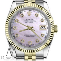 Rolex Ladies Size 26mm Datejust 2tone Pink Mop Mother Of Pearl...