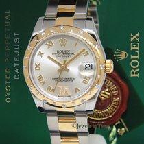 Rolex Datejust 18k Yellow Gold/Steel Diamond VI Midsize Watch...