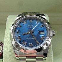Rolex Datejust II 41 mm Edelstahl Ref. 116300 Blau Römisch