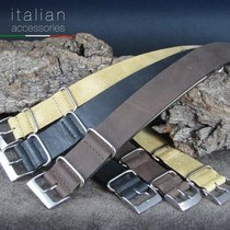 Cinturino in pelle 22 mm Vintage NATO Military watch strap for...