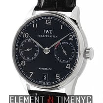IWC Portuguese Collection 7 Days Steel Black Dial 44 Jewel...