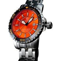 Deep Blue Bluetech Master 500 Watch Auto Black Bezel Orange...