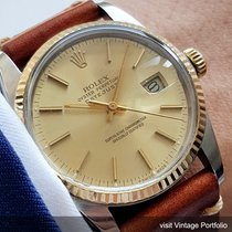 Rolex Serviced Rolex Datejust Automatic Steel Gold 36mm 16013