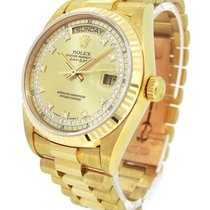 Rolex Oyster Perpetual Day-Date 18K Gold 18038MR, Diamond Index