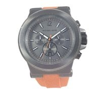 Michael Kors Watch, Men's Chronograph Orange Silicone...
