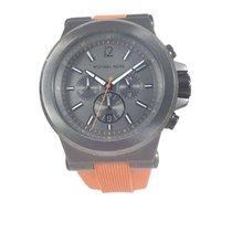 Michael Kors Watch, Men's Chronograph Orange Silicone...