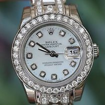 Rolex Ladies 18k White Gold Diamonds Masterpiece Band Diamond...