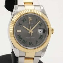 Rolex DateJust II - Gold and Steel - 41mm - Grey Dial 116333